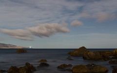 Long after dark (K Haigh) Tags: ocean sea newzealand beach water night clouds stars cloudy wellington moonlight late southcoast aftermidnight houghtonbay