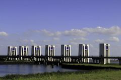 sluizen (water locks), Houtribdijk, Lelystad, Netherlands (CBP fotografie) Tags: summer water netherlands landscape nederland zomer flevoland lelystad ijsselmeer landschap houtribdijk sluizen markerwaarddijk markerwaard waterlocks