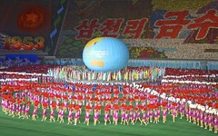 Mass Games in North Korea (EleanorGiul ~ http://thevelvetrocket.com/) Tags: asia northkorea pyongyang dprk coreadelnorte nordkorea    massgames coredunord coreadelnord justinames  coriadonorte visitnorthkorea httpthevelvetrocketcom eleonoragiuliani eleonoraames