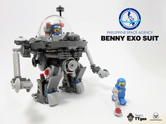 Benny exo suit (Commander626) Tags: robot lego space hard suit benny spaceship mech exosuit