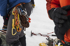 Preparing (Kevin Machtelinckx) Tags: mountain snow ice sports clouds oregon sunrise canon landscape climb atmosphere adventure mthood 7d hood climber cascade mountaineer