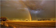 Storm and rainbows (beninfreo) Tags: storm canon rainbow wheat australia double perth lightning rainbows doublerainbow westernaustralia wheatbelt stormchaser pingelly 5d3