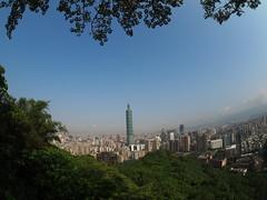 Taipei seen from Elephant mountain, Nangang district!