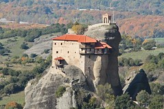 The Meteora monasteries blend into the rocks and autumn colours (extraordinaryplaces) Tags: greece monastery meteora extraordinaryplacescom