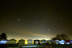 whitstable stars (rob_trik) Tags: beach stars huts nightsky beachhuts whitstable startrails