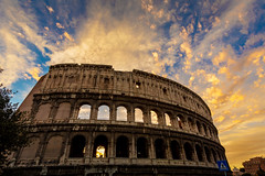 Forza 004 (Cycle the Ghost Round) Tags: old city travel pink sunset urban italy rome classic beautiful evening europe purple dusk gorgeous dramatic stunning fabulous incredible iconic thecolosseum canonef1635mmf28lusm canon5dmarkiii