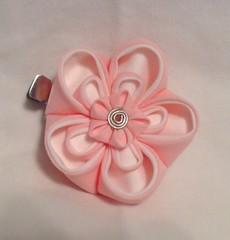 pink plum clip (EruwaedhielElleth) Tags: pink flower hair pin clip maiko ornament fabric cotton hana geisha folded ume accessory tsumami kanzashi zaiku