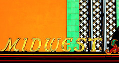 midwest (oldogs) Tags: orange green yellow typography midwest theater dscrx100 scottsbulff