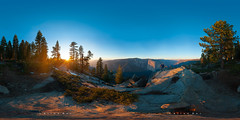 Dry Winter 2015 on Dewey Point - Panorama VR (allanjder) Tags: california travel trees winter sunset usa mountain mountains rock forest nationalpark unitedstates hike falls climbing backpacking valley drought glaciers granite yosemitenationalpark elcapitan nationalparks krasimirganchev