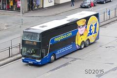 YJ14LHE 50253 Megabus at Preston (Vodka Burner) Tags: lancashire preston stagecoach vanhool megabus cwmbran prestonbusstation megabuscom 50253 vanhooltx yj14lhe vanhoolastramega