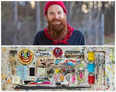 Kyle Diptych (J Trav) Tags: atlanta persona diptych artist painter whatsinyourbag theitemswecarry blackcattips showusthecontentsofyourbag