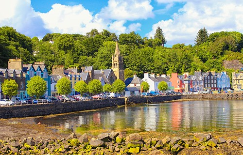 church water island scotland highlands flickr colours harbour postcard picture isleofmull tobermory hebrides