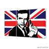 James Bond 007 Sean Connery - Union Jack - Poster (pop-art-world__de) Tags: poster popart unionjack seanconnery 007 jamesbond kunstwerk grosbritannien