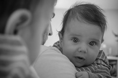 P365/47. (Pics by Susanna) Tags: blackandwhite baby reflection mirror babyboy 3monthold babyportrait day47 day47365 365the2015edition 3652015 16feb15