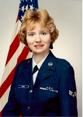 Air Force, August, 1989 (booboo_babies) Tags: california portrait unitedstates flag military 1989 airforce 1980s sanbernardino nortonairforcebase