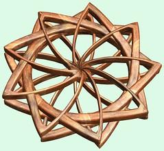 Knot /  (TANAKA Juuyoh ()) Tags: texture design 3d code cg pattern graphic knot structure symmetry figure program mapping algorithm mathematica  abstruct         parametricplot3d