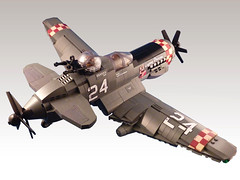 E-11 Liberator (JonHall18) Tags: plane war fighter lego aircraft fantasy ww2 pilot moc dieselpunk