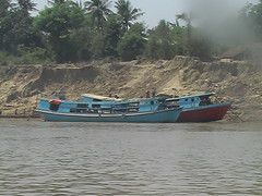 Boats on the Ayeyarwady River