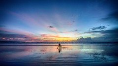 Kuta beach Bali (Trigger1980) Tags: blue sunset sea sky bali beach water night dark sand nikon day ngc hdr kuta d7000 nikond7000