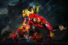 Unbeatable. (Andy @ Pang Ket Vui ( shootx2 )) Tags: guy green lego damage hulk avengers hulkbuster 76031