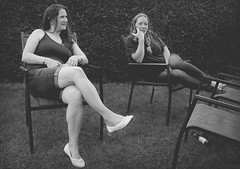 Canon EOS 60D - B&W - Lisa & Tabby in the Garden after the Great Western Ride (GWR) 2016 (TempusVolat) Tags: tempusvolat gareth tempus volat mrmorodo women girl woman pretty beautiful brunette garden gwr greatwestonride canon eos 60d canoneos girls longhair lovely lady lover wife long hair goodlooking attractive smart beauty gorgeous spouse partner female lovelybrunette beautifulwoman prettywoman attractivewoman love womenarebeautiful mywife cute verypretty verybeautiful demure shapely curvy lisa garethwonfor lisafarge lisawonfor beautifulwife prettywife curvywife wonfor boobs vest curves boob bra brastrap vesttop necklace sexy tabby bigboobs
