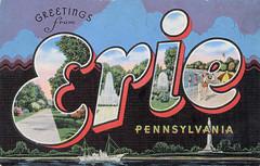 Greetings from Erie, Pennsylvnia - Large Letter Postcard (Shook Photos) Tags: pennsylvania linen postcard postcards greetings erie linenpostcard bigletter eriepennsylvania largeletter largeletterpostcard linenpostcards largeletterpostcards bigletterpostcard bigletterpostcards