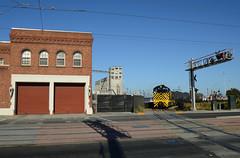 Station 25, Catenary and an Alco (CN Southwell) Tags: san francisco bay belt railway alco s2 muni trolley diamond crossing