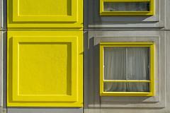Yellow window and wall (on Explore) (Jan van der Wolf) Tags: map15147ve architecture architectuur windows window raam ramen geel yellow heesterveld amsterdam building gebouw huis house lines shadow