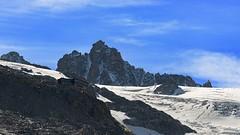The two Albert 1 huts, Mont-Blanc range. Massif du Mont-Blanc, les refuges Albert 1. (Claude Jenkins) Tags: france mountains montagne nikon rocks glacier huts d750 nuages chamonix montblanc rochers icefall alpinism hautesavoie refuges