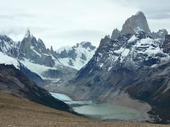 Loma del Pliegue Tumbado (jocelyncoblin) Tags: travel patagonia mountain topf25 water argentina landscape outdoor 100v10f hike glacier glacial elchalten losglaciaresnationalpark lomadelplieguetumbado