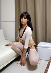 DSC08171 (mimo-momo) Tags: japanese underwear crossdressing transvestite stocking crossdresser crossdress swimwear cocksock