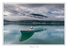 boat reflection. (Tom Baetens) Tags: 1835mm norway tombaetens blue clouds d610 film landscape nikon outdoor reflection sky view water buoyant