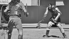 Gladiador 03 (A.Peral) Tags: bw blanco festival circo negro romano arena gladiator dies gipuzkoa irun biga gladius bidasoa oiasso oiassonis gladirador