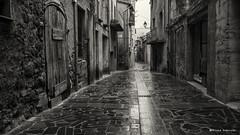 2110  Una calle de Castellfullit de la Roca Girona, (Ricard Gabarrs) Tags: street calle pueblo ciudad olympus villa rue callejeando carrer castellfullitdelaroca ricgaba ricardgabarrus