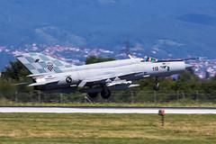 PERO5163 (Petar Meznarek) Tags: 118 zagreb zrakoplovstvo zlz zracna zag mzlz mig21 mig mig21bis eba eskadrila borbenih airport aviona pleso ldza