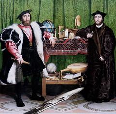 IMG_0151A Hans Holbein le Jeune. 1497-1543.  Jean de Dinteville and Georges de Selve.  The Ambassadors.  Les Ambassadeurs. 1533.    Londres. National Gallery. (jean louis mazieres) Tags: greatbritain london museum painting unitedkingdom muse nationalgallery londres museo peintures peintres grandebretagne hansholbeinlejeune