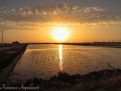 Sunset (Francesco Impellizzeri) Tags: sunset water reflections landscape sicilia trapani