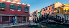 Burano (Lpez Pablo) Tags: bridge urban italy canal venezia burano