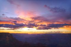 DSC_0094 yavapai point sunset hdr 850 (guine) Tags: grandcanyon grandcanyonnationalpark canyon rocks clouds sunset hdr qtpfsgui luminance