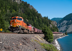 BNSF At Home Valley (PNW Rails Photography) Tags: stevenson washington unitedstates bnsf grain columbia river gorge train railroad ge gevo