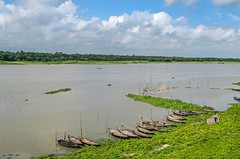 Beautiful Bangladesh (ashik mahmud 1847) Tags: bangladesh d5100 nikkor river boat sky cloud green