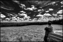 Self Reflection Again (CallihanImages) Tags: efs1018mmf4556isstm efs1018mm efs 10mm canoneos70d canon70d canon 70d black white blackandwhite bw selfportrait selfie sky clouds blackwhite