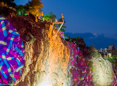 Cliff Diving  Agios Nikolaos!!! (alexisbutzalis) Tags: crete greece agiosnikolaos cliffdiving sea summer night event