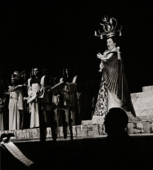 Birgit Nilsson as  Turandot in Gothenburg 1973 (ingmarjernberg) Tags: storateatern storan opera theaterphotography productionphoto stage birgitnilsson birgit nilsson performance puccini lanilsson operaprimadonna blackandwhite svartvitt stagephoto göteborg gothenburg sweden sopran singer analog kodaktrix nikon nikkormat turandot scandinavium