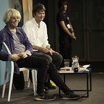 Tim Burgess with Ian Rankin