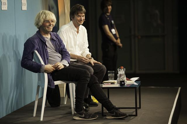Tim Burgess with Ian Rankin
