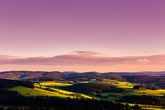 Sunset Panorama (azriayob) Tags: canon nature niedersfeld germany sunset landscape hillside clemensberg rural countryside colors purple green pink magenta trees scenery view evening sky