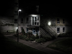 Welcome to Paradise (DanRSmith) Tags: night nightlight nocturnal noctography dark light shadow shadows shadowplay urbanlandscape olympusepl5 olympus17mmf28
