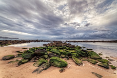Follow the rocky path (JustAddVignette) Tags: landscape australia beach clouds cloudysunrise dawn early headland lagoon landscapes lowtide maroubra newsouthwales ocean peaceful reflections rocks sand sea seascape seawater sky southeasternsuburbs sunrise sydney water waves