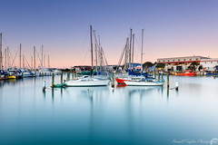 High tide (Russell Taylor photography) Tags: napier new zealand long exposure seascape ahuriri sunset picturesque sailing port aqua water sea